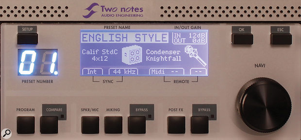 The menus and the clear LCD screen give easy access to aworld of tweakable parameters.