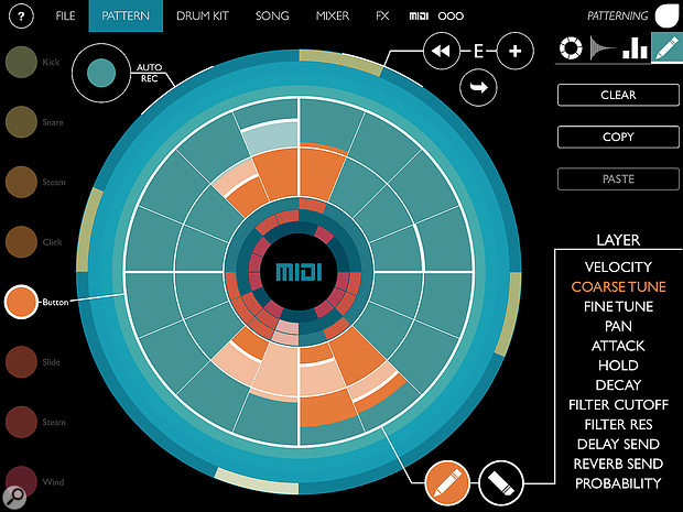 Patterning: a new direction for drum machine programming.