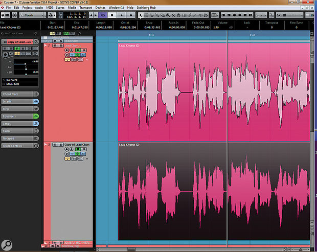 It's always wise to work on a duplicate of the original vocal part...