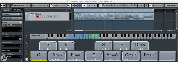 With the Chord Pads configured, it's time to write a  song.