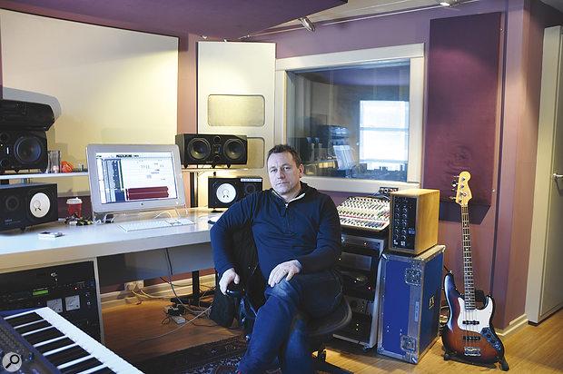 Ruadhri Cushnan at his Rhubarb Studio.