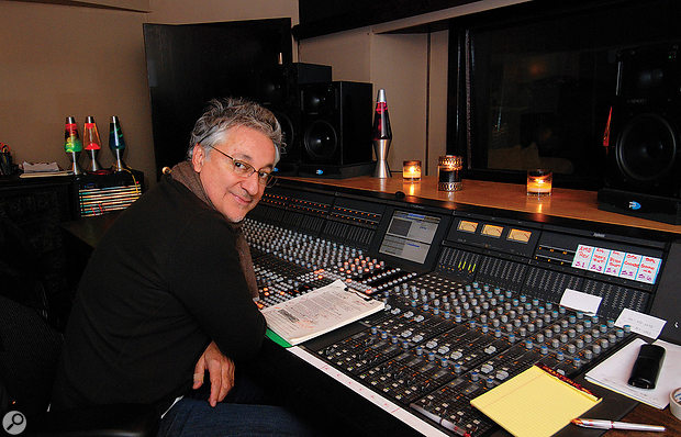 Humberto Gatica at the Euphonix desk in his own studio in Los Angeles.