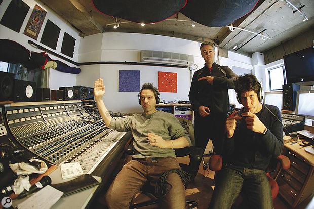 The Beastie Boys at Oscilloscope Laboratories. From left: Adroc (Adam Horowitz), MCA (Adam Yauch) and Mike D (Michael Diamond).
