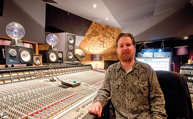 Mike Crossey at the SSL desk in Livingston Studios where The 1975 was mixed.