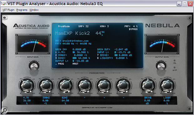 Nebula EQs tend to offer each band as aseparate preset, but Analog In The Box also offer handy three‑band 'combo' EQs with their Mammoth Expansion.