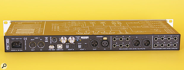 If there were a prize for squeezing the most inputs and outputs into a 1U rack device, RME would certainly be in the running....
