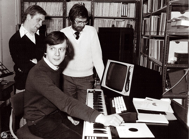 Peter Howell with his beloved Fairlight.