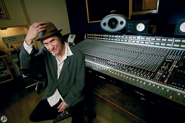 Ray Davies at the SSL G‑series desk in Konk's mix room.