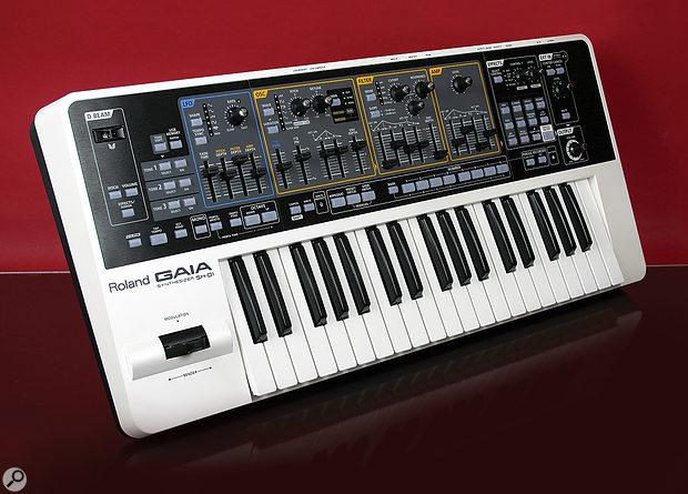 Roland Gaia SH01 synthesizer.