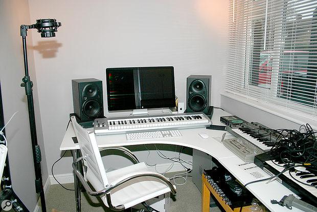 John's studio before our visit.