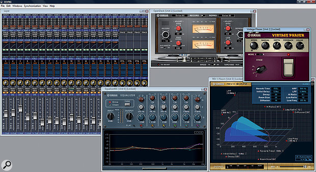 The 01v96i comes with Yamaha's Studio Manager software, which includes a number of useful effects.