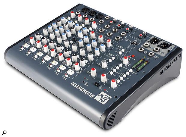 Allen & Heath XB10 mixer.