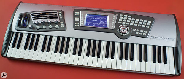 The Fusion 6HD, as used for this review. As its name suggests, the Fusion 8HD has 88 keys (as well as a fully weighted keyboard), but it's otherwise identical to the 6HD reviewed here.