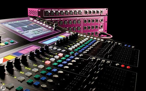 Allen & Heath GLD80 mixing desk.