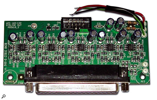 This Sys-Link II card can be inserted behind the blanking panel at the bottom right-hand side of the mixer's back panel. Once installed, the WZ316:2 can act as an input expander module for the WZ314:4:2 or a variety of Allen & Heath's larger mixers.