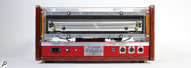 In addition to the front-panel instrument input and output, there are line and pedal inputs on the rear.
