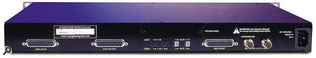 Apogee Rosetta 800 rear panel.