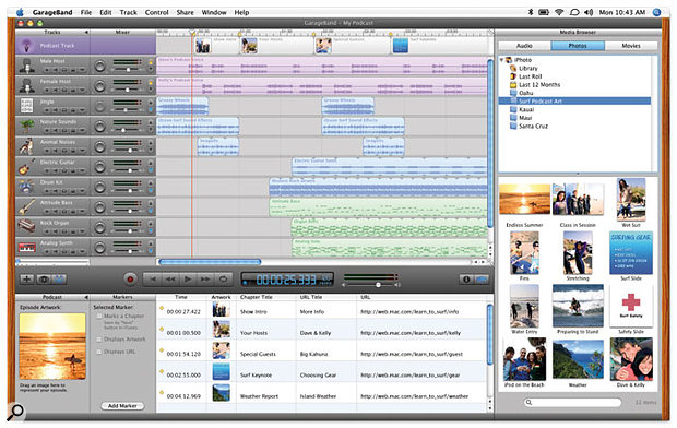 With new Podcasting features, Garage Band is beginning to look more like a general-purpose multimedia tool than an app specifically for musicians.