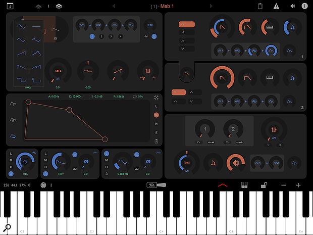 Layr's synth engine — known as a  Layer — can be stacked multiple times to form an Instrument.