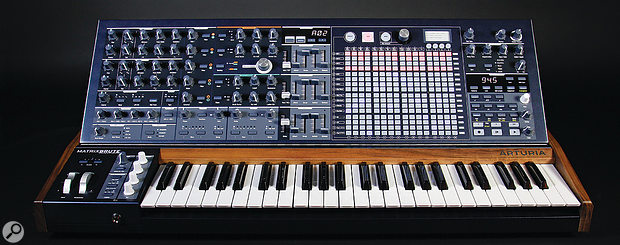The MatrixBrute is a  substantial bit of kit, weighing in at 20kg and its front panel measuring 860 x 432mm.
