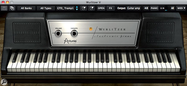 Arturia Wurlitzer V virtual instrument.