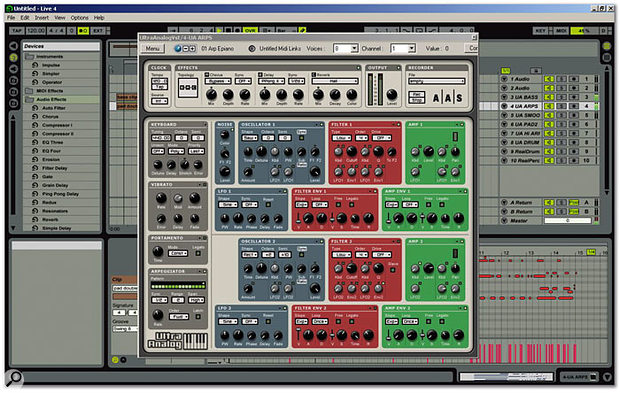 AAS Ultra Analog running under Ableton's Live 4.