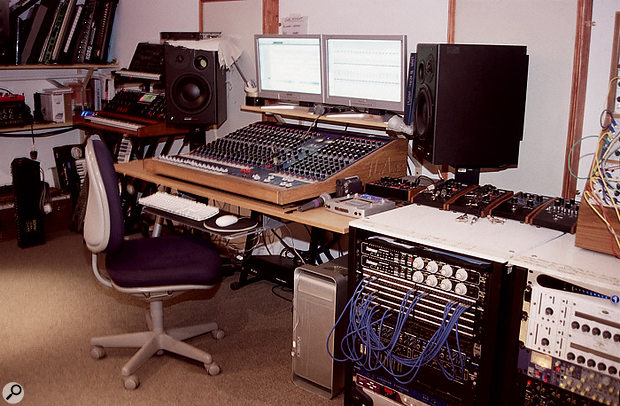 The band record to a Pro Tools–equipped Mac via a TL Audio valve console, with Dynaudio speakers used to hear the results.