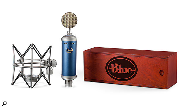 All microphones in the range (the Bluebird SL is pictured) come with a  wooden case and elastic shockmount.