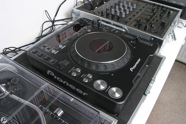 Mark Vidler's rig includes this Pioneer DJ CD player.