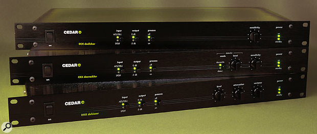 CEDAR's previous generation of 1U rackmount audio restoration tools were the Series X, reviewed back in SOS July 2000. The march of progress has been swift, though, and the Duo processors now provide eight times the processing horsepower of the Series X units, as well as a more flexible LCD-based control interface.
