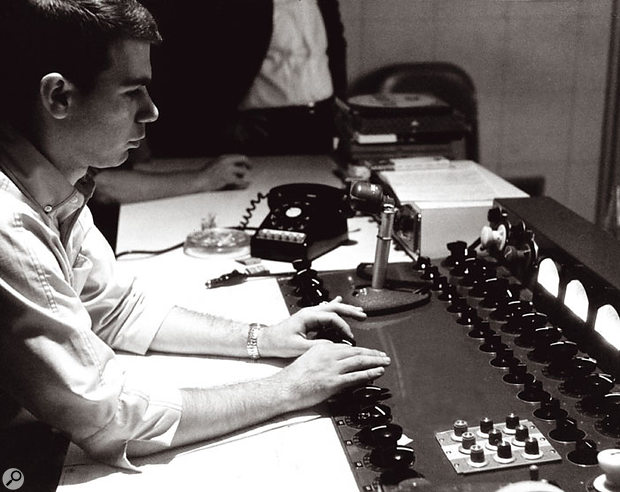 Bruce Botnik at the Sunset Sound Studio One console in 1967.