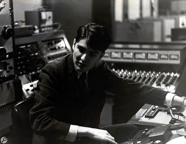 John Fry in the control room at the original Ardent Studios on National Street, where Big Star's #1 Record was begun, in a photo taken around 1969.