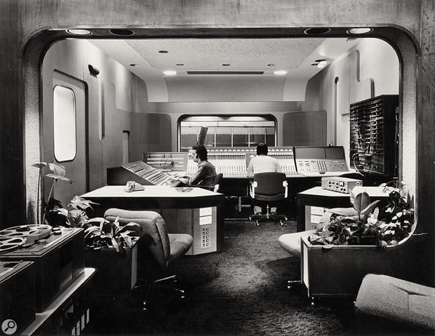 The control room at Abbey Road Studio Three in its '70s guise.