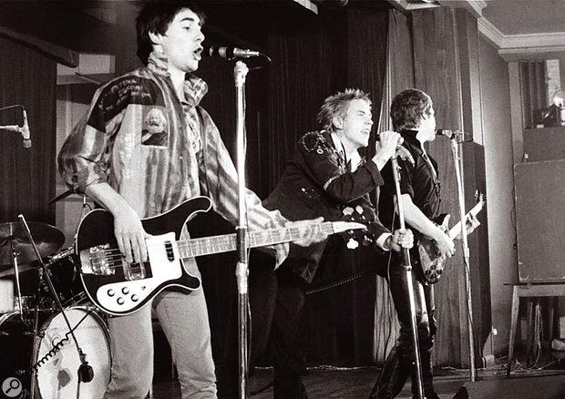 The original Sex Pistols line-up, with Glen Matlock (left) on bass.