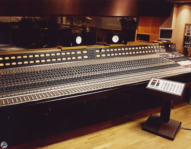 The control room at Record One as it appeared in 1991, housing this Neve desk.