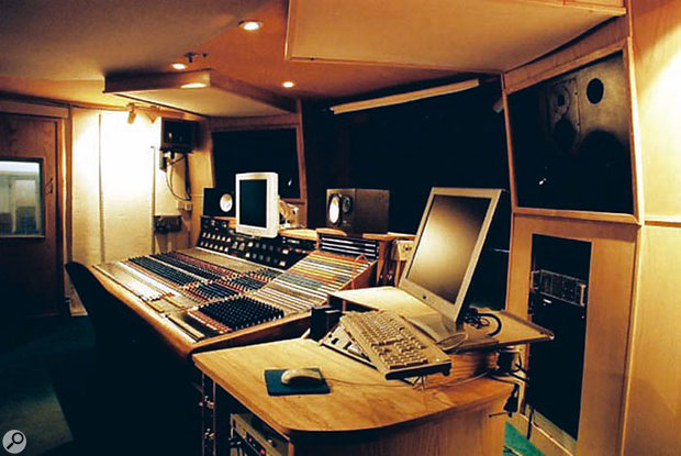 The control room at Sawmills.