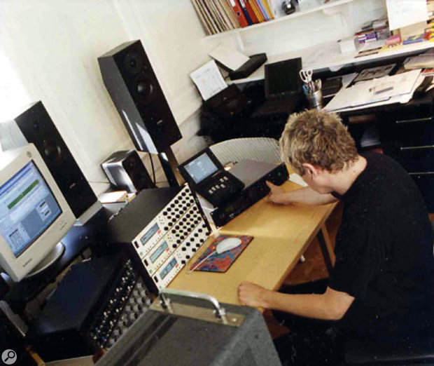 Jon Astley in his mastering studio in Twickenham, located in the same house that belonged to Pete Townshend for 12 years.