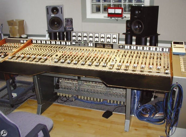 The EMI desk used to record 'Start Me Up' now resides in the studio of songwriter and producer Terry Britten, who has added the additional sidecar modules.