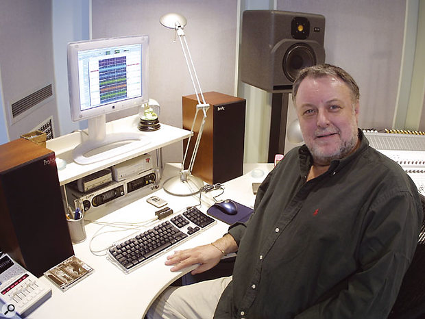 Chris Kimsey today at Sphere Studios, his current base in London.