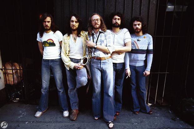 Supertramp: left to right, Dougie Thompson, Roger Hodgson, John Helliwell, Rick Davies and Bob Siebenberg.