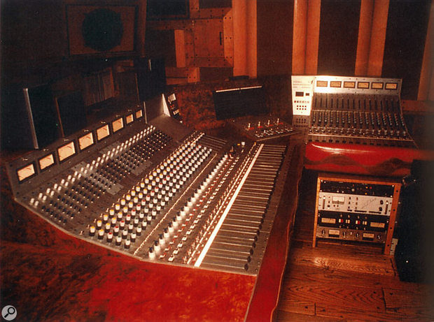 The mix room at Crystal Studios featured a custom 56-input desk.