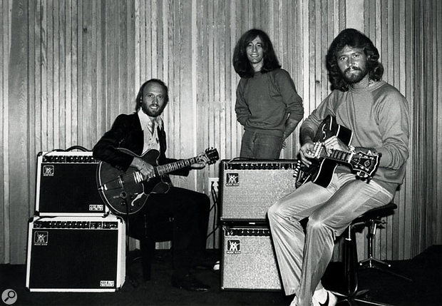The Bee Gees: from left, Maurice, Robin and Barry Gibb.