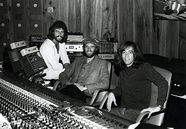 After the success of the Saturday Night Fever soundtrack, the Bee Gees built their own Middle Ear Studios in Miami, where this shot was taken.