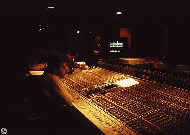 The SSL desk at Mayfair Studios was the first 6000 made, and the sessions for 'What's Love' exploited its features to the full. This photo shows John Hudson working on the mix.