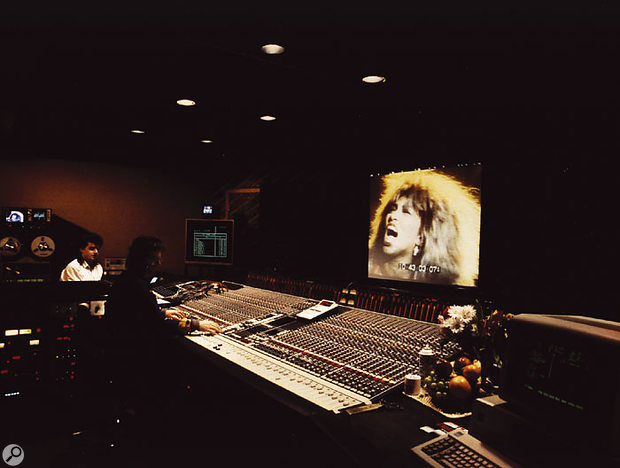 As well as the colossal success of the 'What's Love' single, the profile of the Private Dancer album was also boosted by the video for the title track. John Hudson, shown here mixing the video, was awarded a Grammy for his work on it.