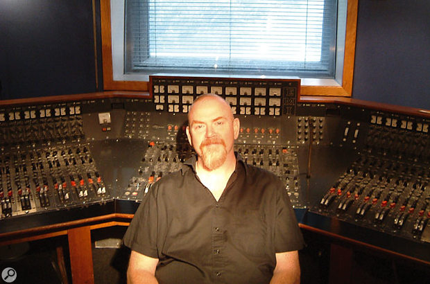Mike Hedges today, with his ex-Abbey Road EMI console, now housed at Westside Studios.