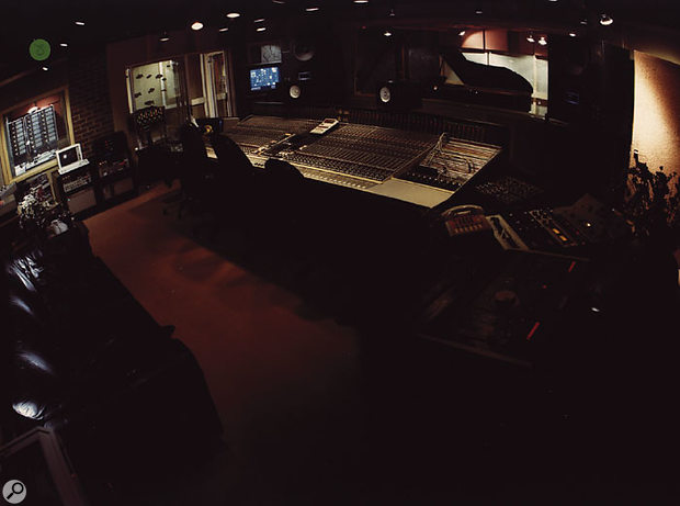 A wide shot of the Mayfair control room, taken during the recording of Tina Turner's follow-up album Break Every Rule.
