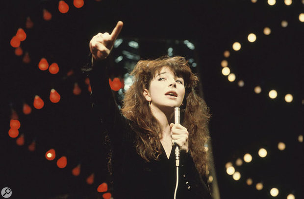 Kate Bush performs 'Wuthering Heights' on Top Of The Pops in February 1978.