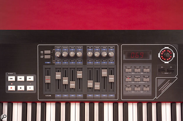 With its endless rotary encoder and host of assignable knobs, buttons, and transport controls, to say nothing of its weighted aftertouch-capable keyboard, the CME UF8 is ready to control almost anything in your MIDI studio.