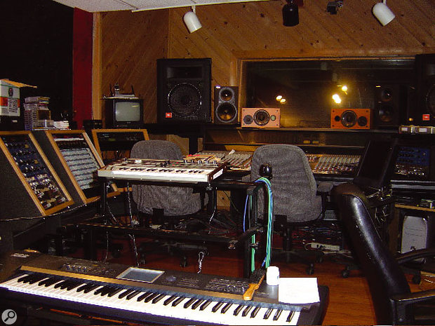 Studio A control room at The Neptunes' Hovercraft Studios.